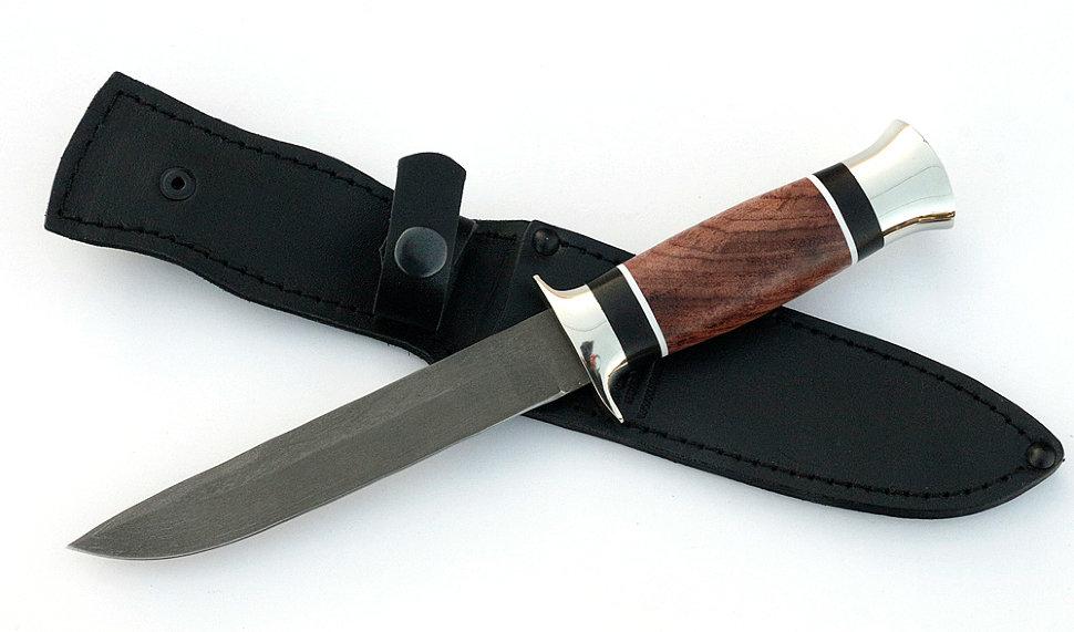 Нож Лидер сталь AISI, рукоять бубинга-черный граб